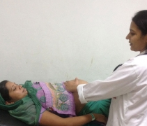 Abdominal Examination by Doctor during PMSMA